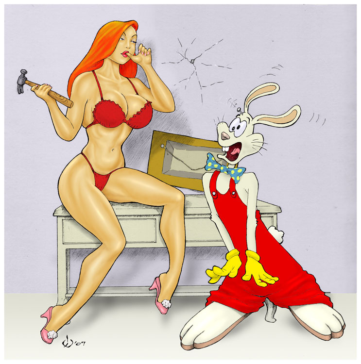 Jessica rabbit grabs guys balls, topless hot girls licking penis