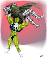 Lifting Dr. Doom by yatz