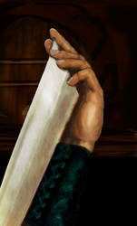 Detail - Mercenary's Hand by Symcale