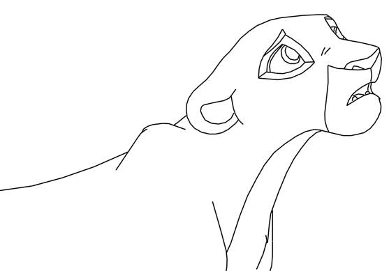 Sad lioness base by lyra elante on deviantart for Lioness coloring pages