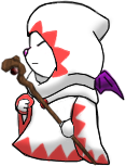 White Mage Moogle by Lyra-Elante