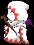 White Mage Moogle by Lyra-Elante