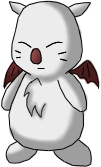 Final Fantasy VII Moogle by Lyra-Elante