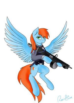 Angel with a Shotgun by Jupiter-RainBow