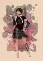 Cyberpunk Girl by daveyboygales