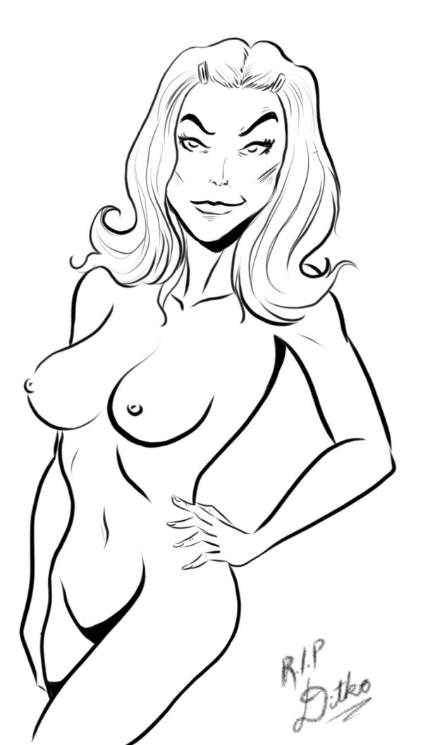 Gwen Stacy (Ditko tribute) by PookieArt