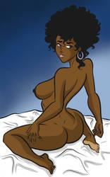 Random Black Woman (from 'Guy Youma Kakusei') by PookieArt