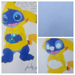 Stich y Pikachu by SoulDz
