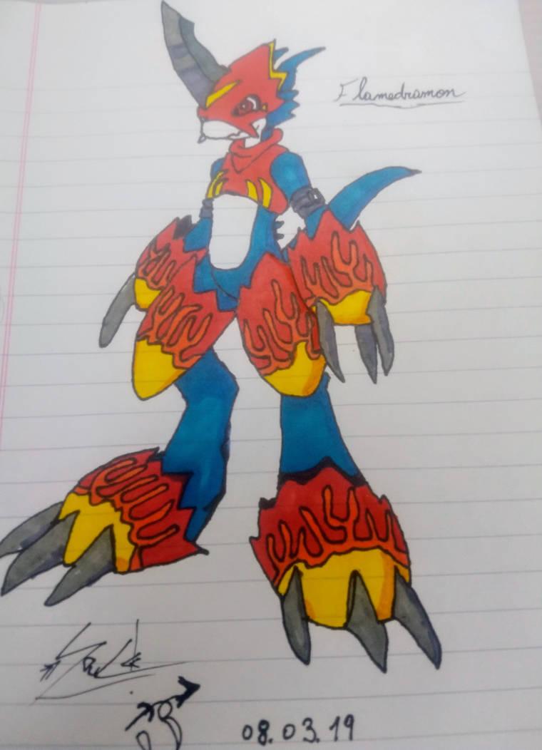 Flamedramon by SoulDz
