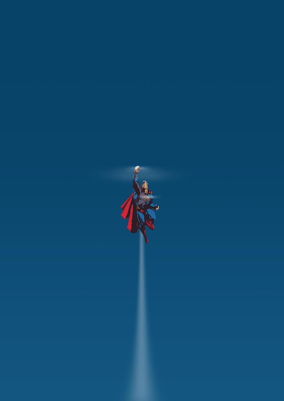 Minimalist series superman by wlaban on deviantart for The art of minimalist living