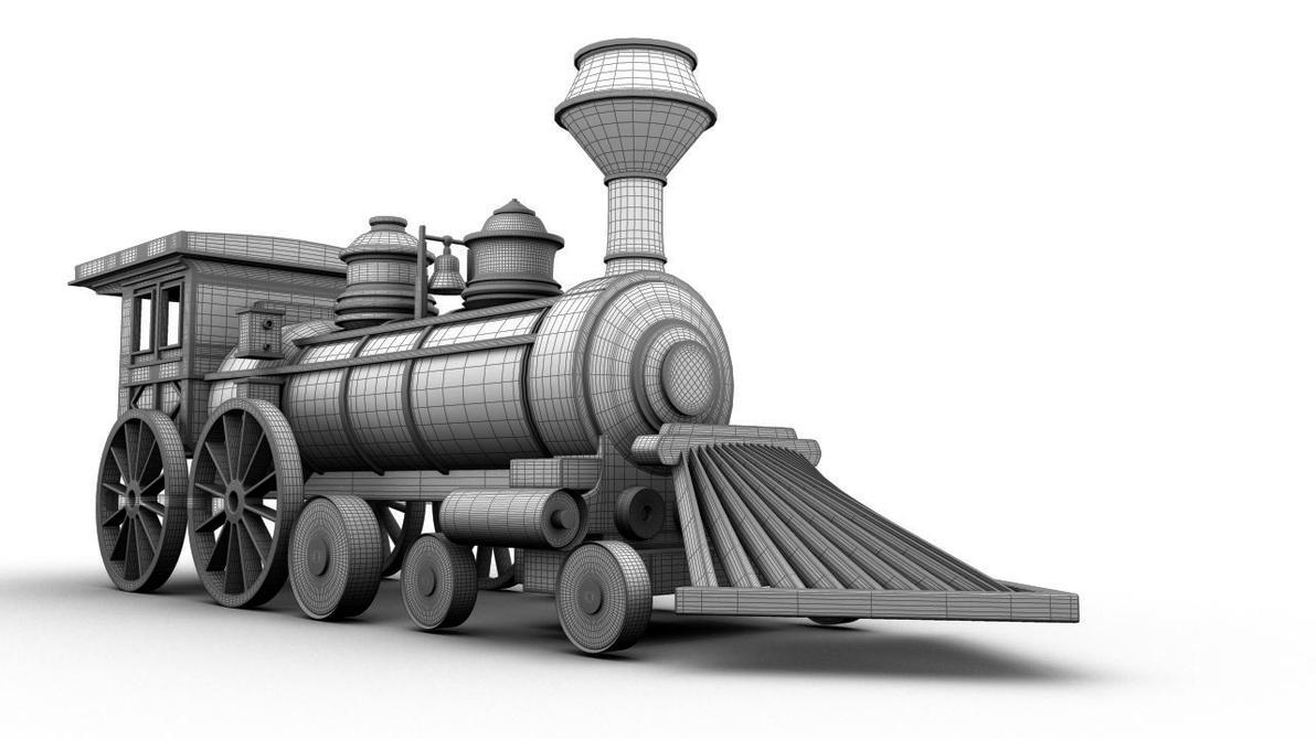 Steam Train 3d Model By Wlaban On Deviantart