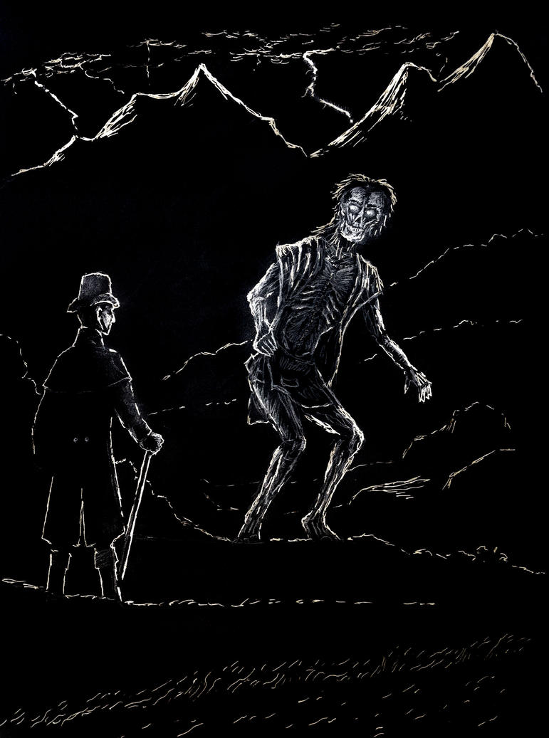 The Creature Frankenstein Drawing