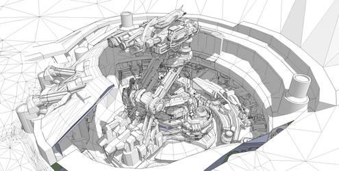 Folding Geocannon WIP by BlueBlankey