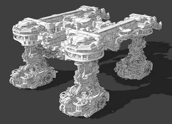 Mobile super destroyer [WIP] by BlueBlankey