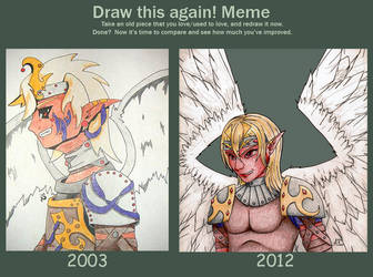 Before and After: Winged Elf