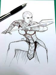 Okoye - Black Panther sketch
