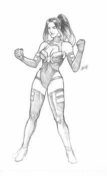 Psylocke 2019 sketch