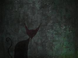 Cat in the darknight by missdine