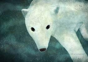 Polar bear under the water by missdine