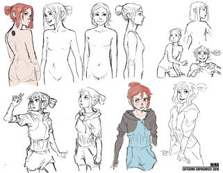 Nina character concept by Porokelle