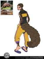 Pangolin Hero (My Hero Academia OC) by Porokelle