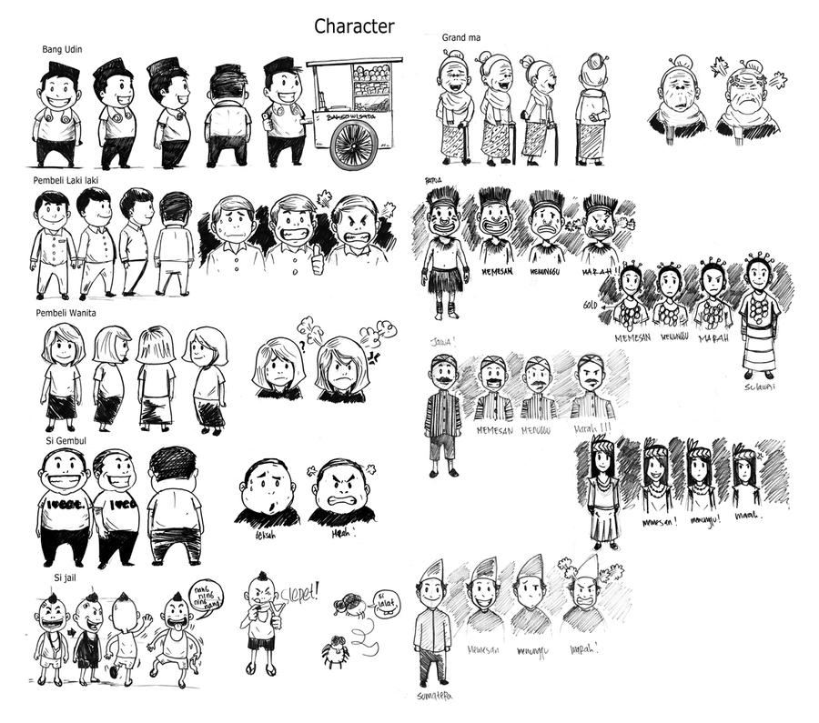 Character Desain By Madahmed On DeviantArt