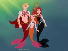 Queens of mewni - mermaid families (set #25)