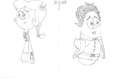Veggie Teens - Sweetpea and Prince Larry