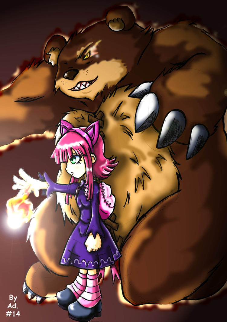 Annie and Tibbers- League of Legends by u-zineiros