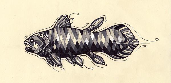 Coelacanth Tattoo Design by Tsairi