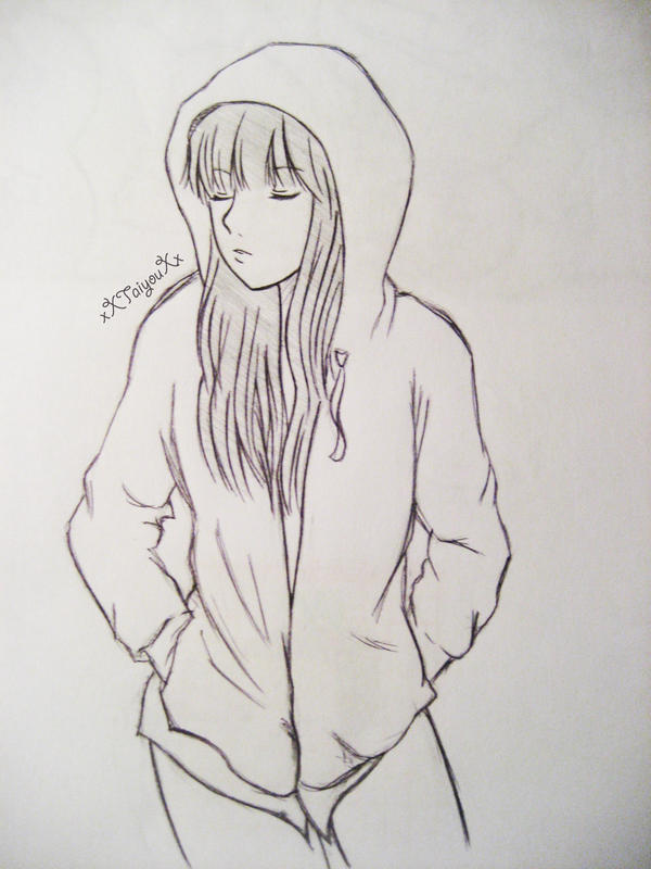 Hoodie Girl by xXTaiyouXxHow To Draw Anime Girl With Hoodie