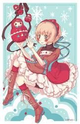 Russian dolls girl by Mi-eau
