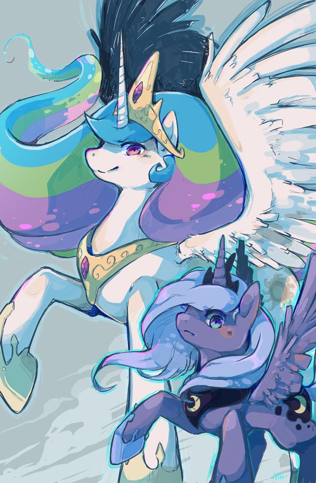Commission - Pony Princesses