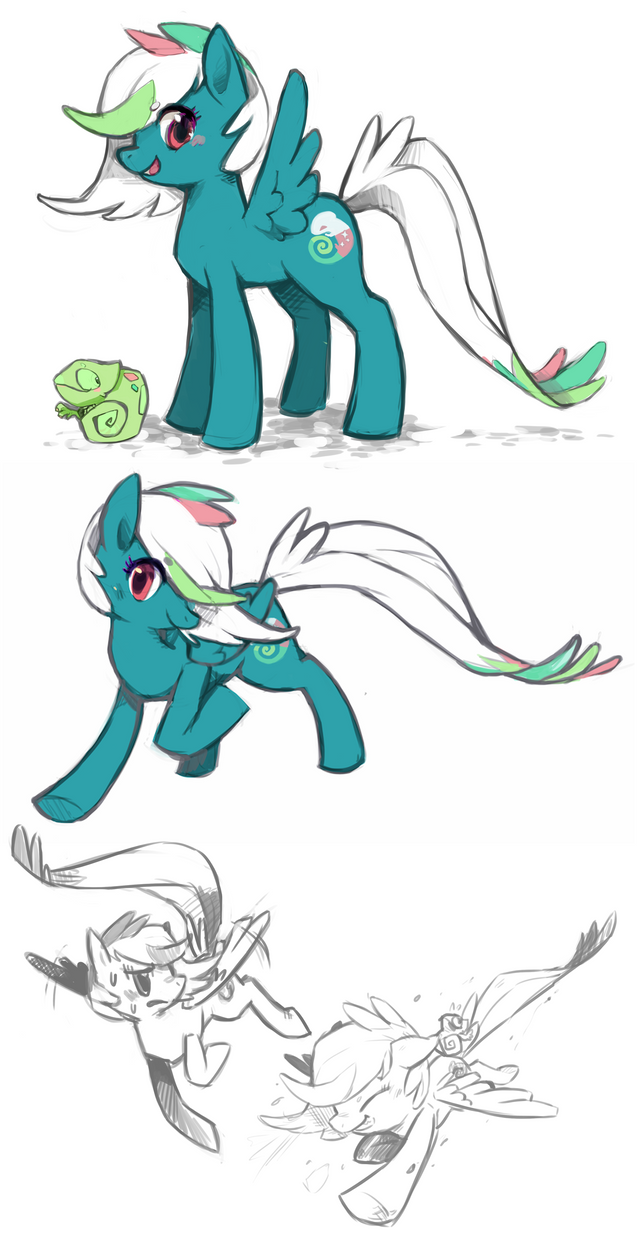 Chameleon Pony by Mi-eau