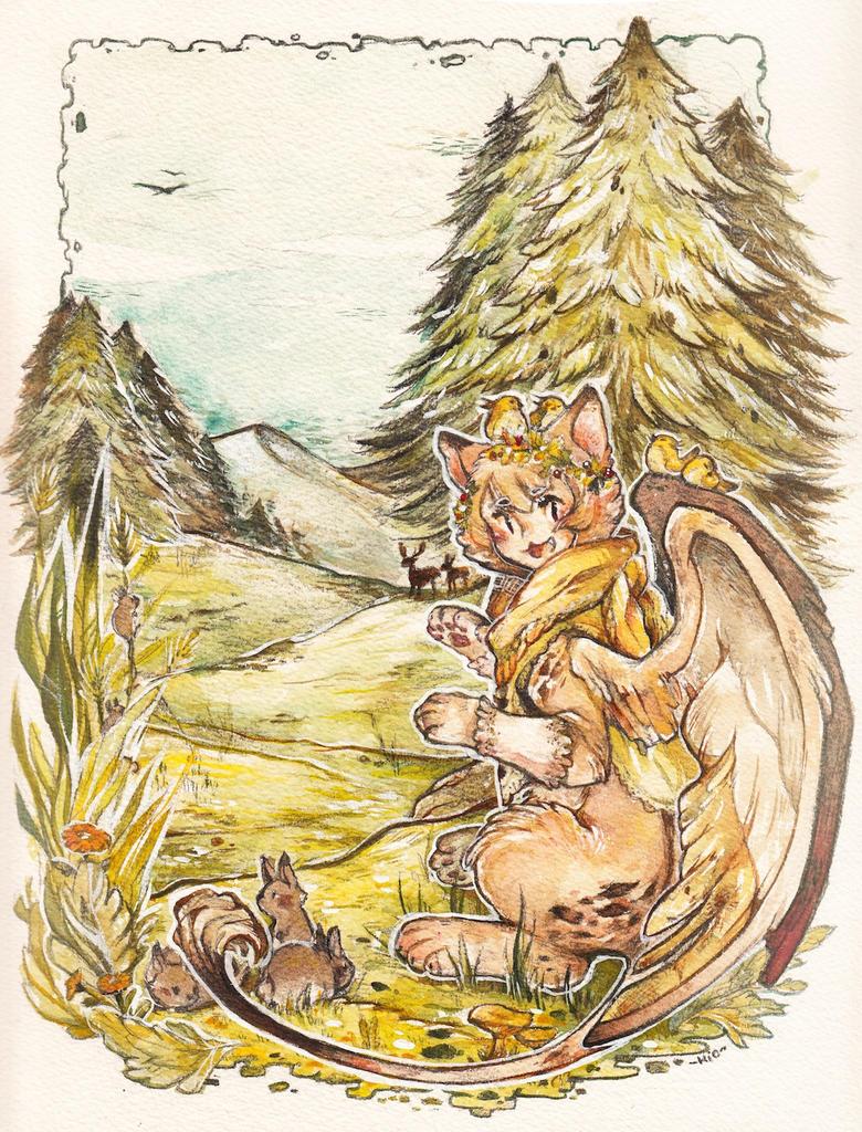 Forest folk Sphinx by Mi-eau