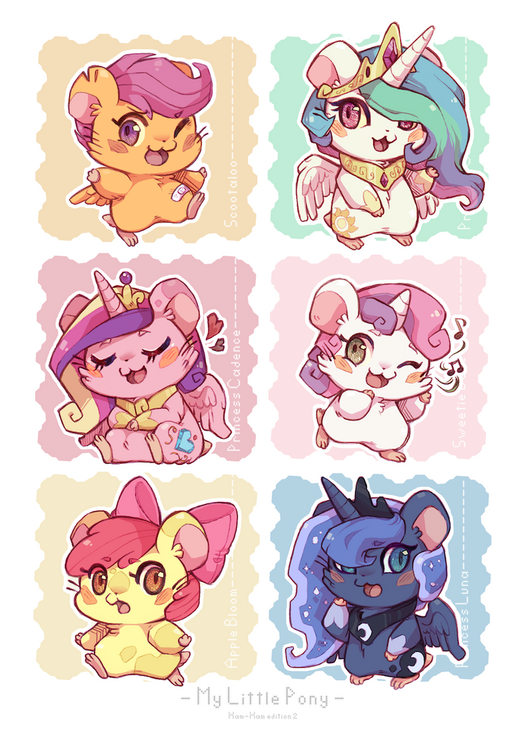Ham-ham Ponies 2 : CMC and Princesses by Mi-eau