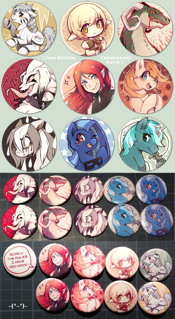 Button commissions - Batch 1. by Mi-eau