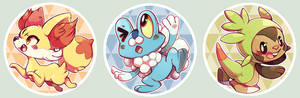 XY starters - Buttons