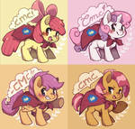 Cutie Mark Crusaders buttons