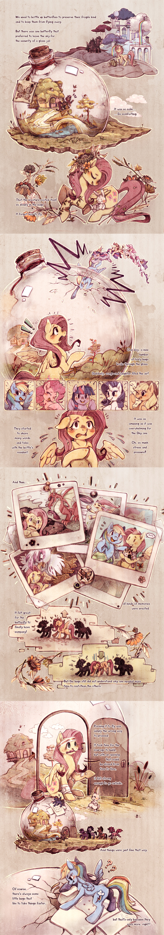 MLP comic - Butterfly by Mi-eau