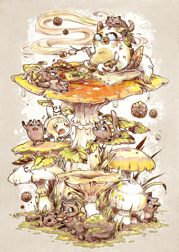 Mushroom Mother by Mi-eau