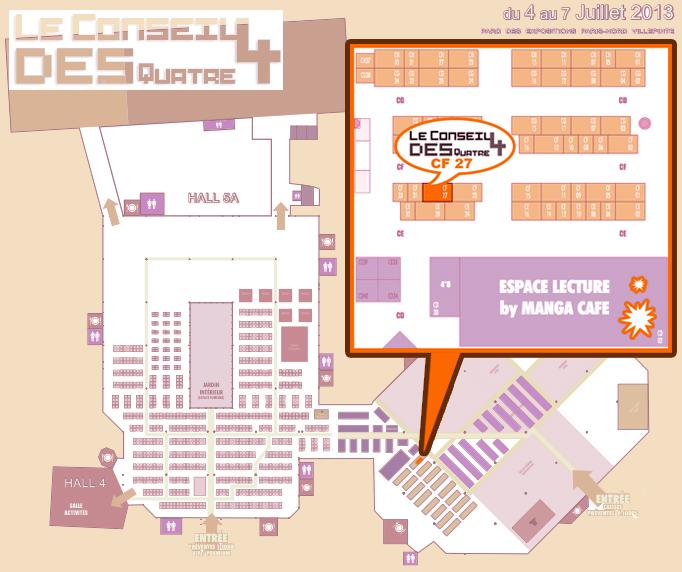Japan Expo 2013 - MAP by Mi-eau