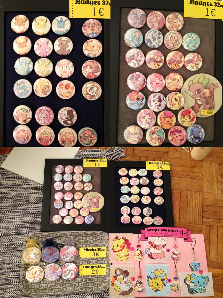 Japan Expo 2013 - Button lineup by Mi-eau