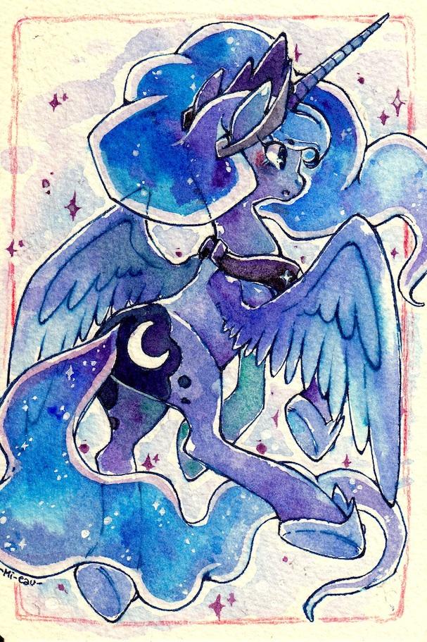 Luna Postcard by Mi-eau