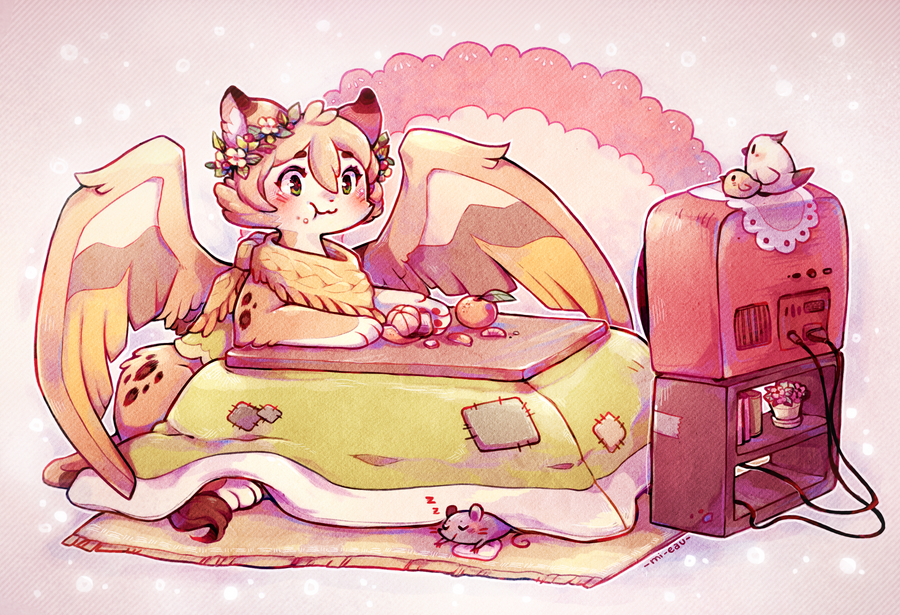 Kotatsu sphinx by Mi-eau