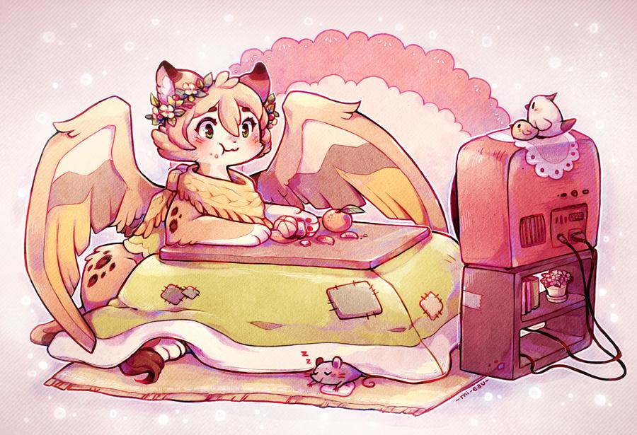 Kotatsu sphinx by Mi-eau