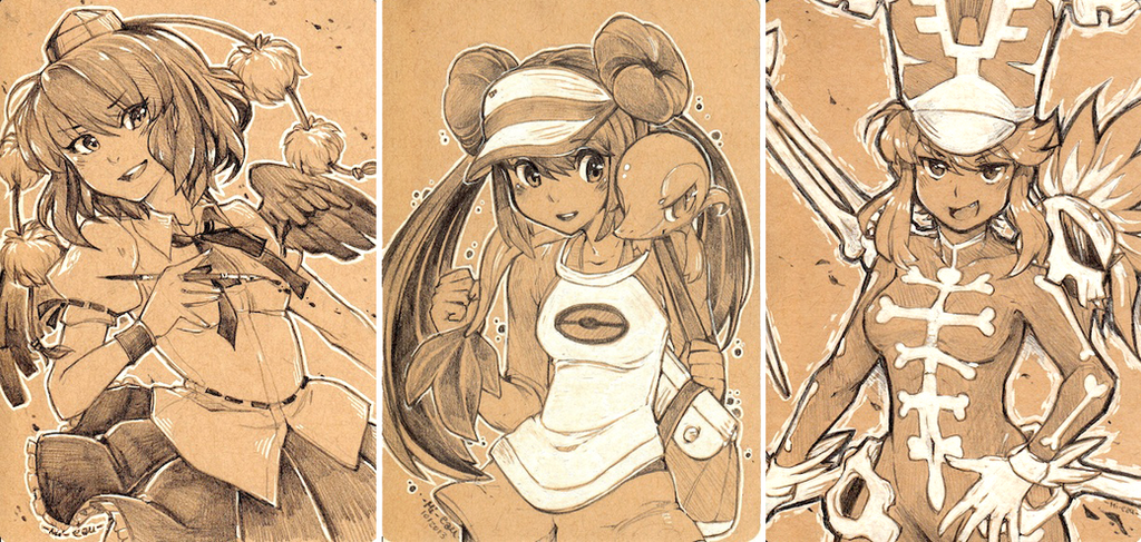 Com. Examples - Pencil and white 2 by Mi-eau