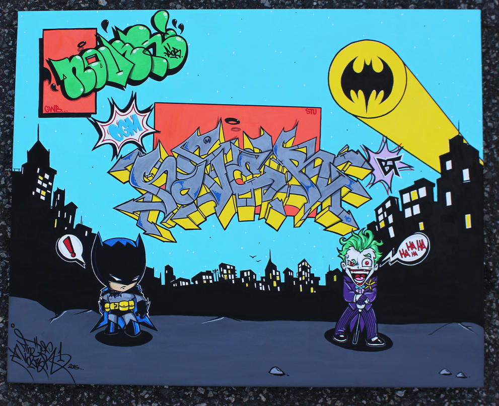 Batman And Joker Canvas By NOVER by NoverGWB
