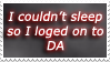 Can't Sleep Stamp by StargazerL
