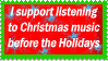 Christmas Music Stamp by StargazerL